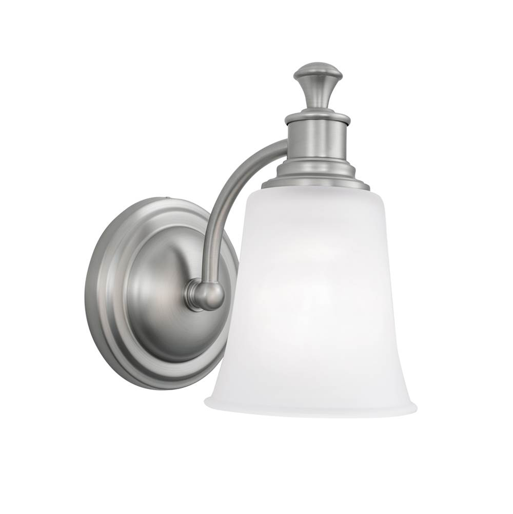 Norwell One Light Nickel Bathroom Sconce