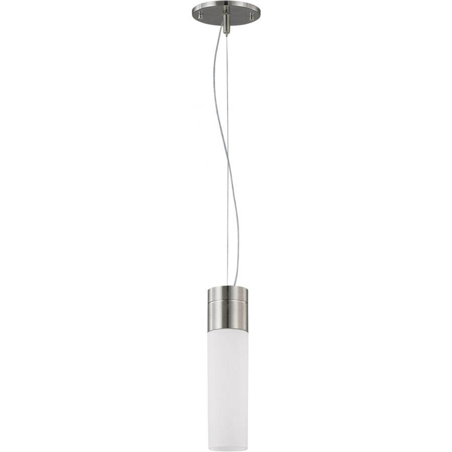 Nuvo Link; 1 Light; Tube Pendant with White Glass