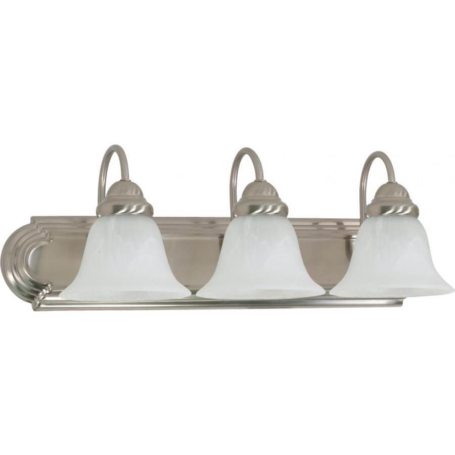 Nuvo Ballerina; 3 Light; 24 in.; Vanity with Alabaster Glass Bell Shades