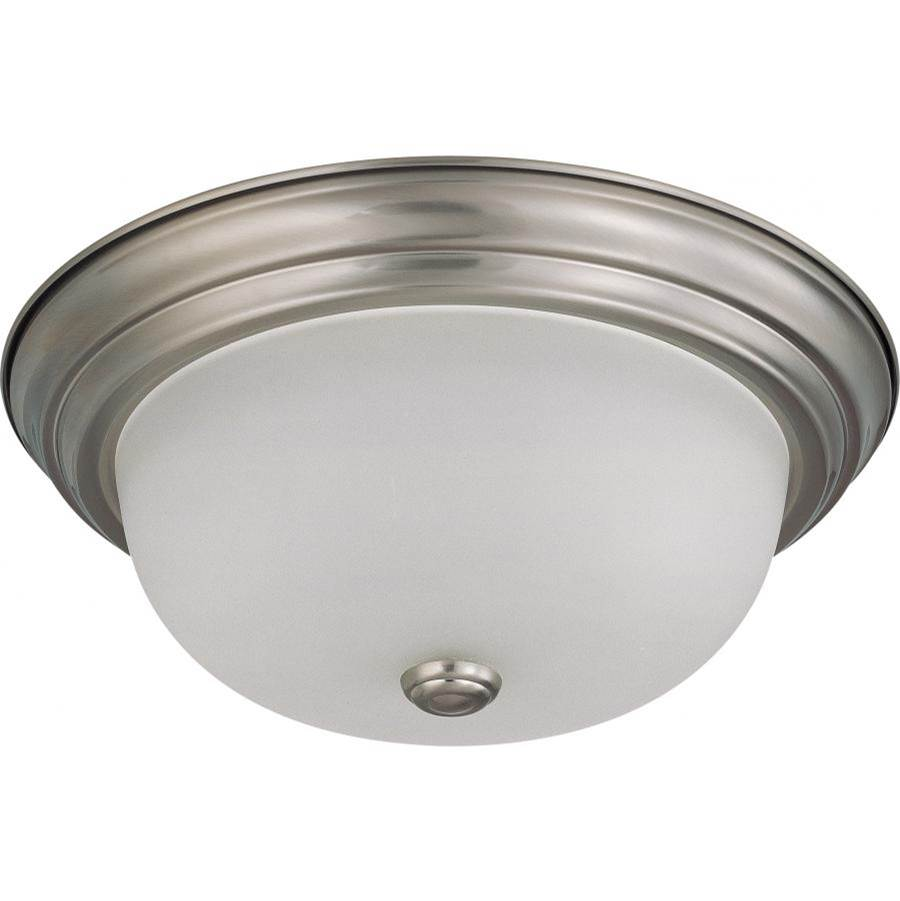 Nuvo 2 Light; 13 in.; Flush Mount with Frosted White Glass