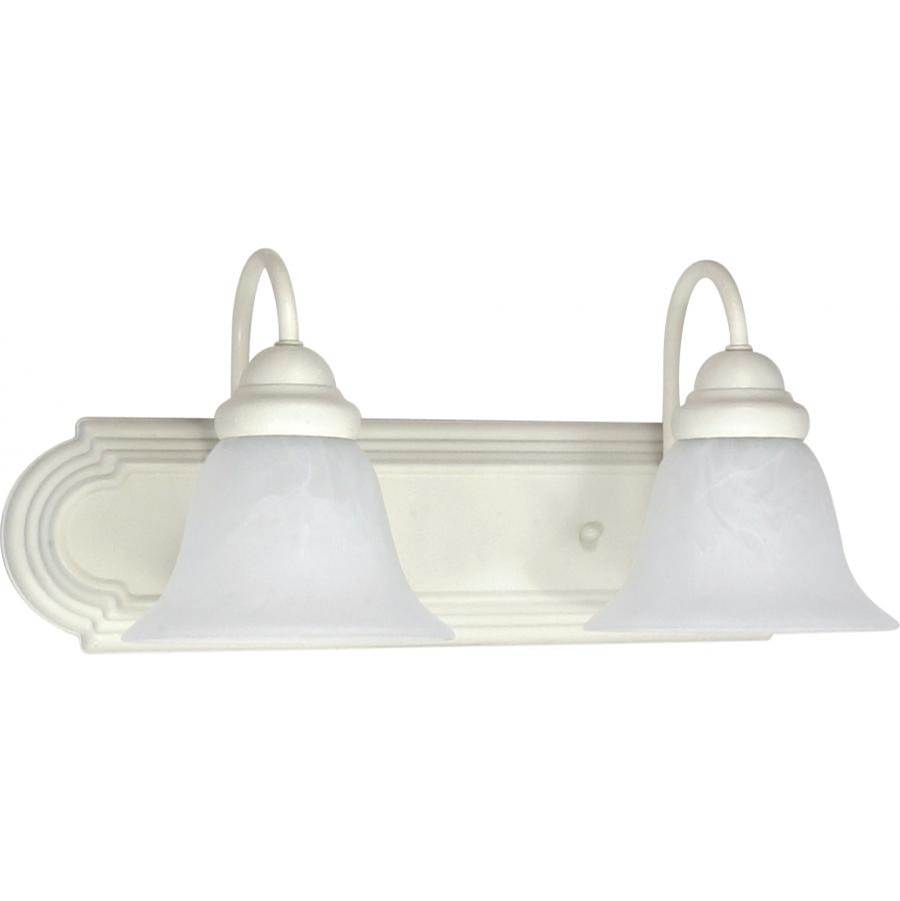 Nuvo Ballerina; 2 Light; 18 in.; Vanity with Alabaster Glass Bell Shades