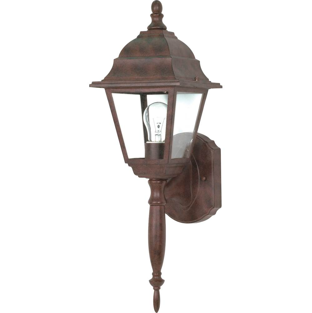 Nuvo Briton; 1 Light; 18 in.; Wall Lantern with Clear Seed Glass; Color retail packaging