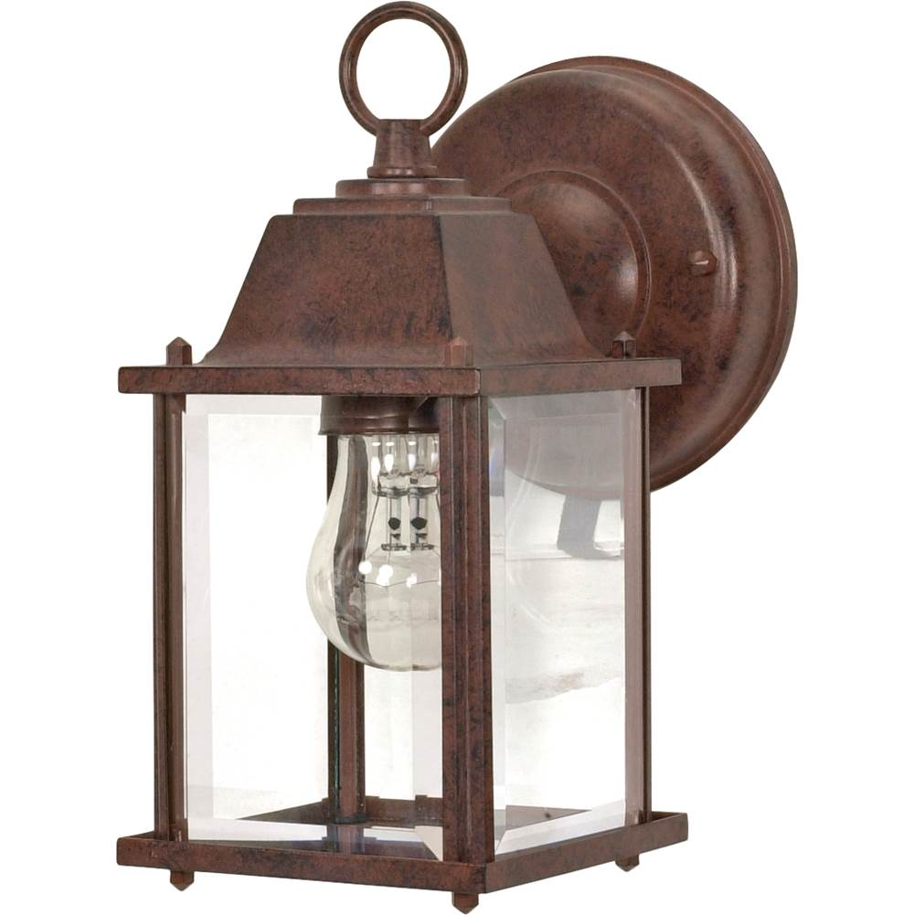 Nuvo 1 Light; 8-5/8 in.; Wall Lantern; Cube Lantern with Clear Beveled Glass; Color retail packaging