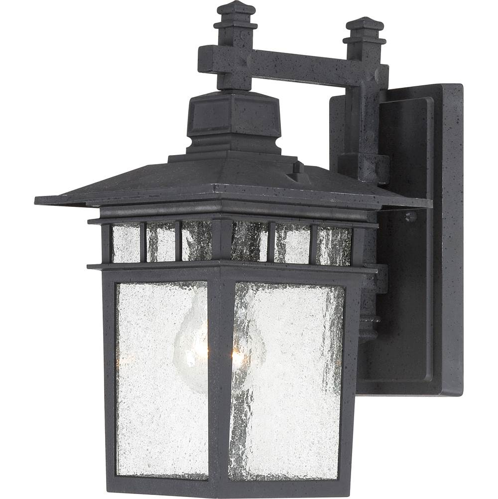 Nuvo Cove Neck; 1 Light; 12 in.; Outdoor Lantern with Clear Seed Glass; Color retail packaging