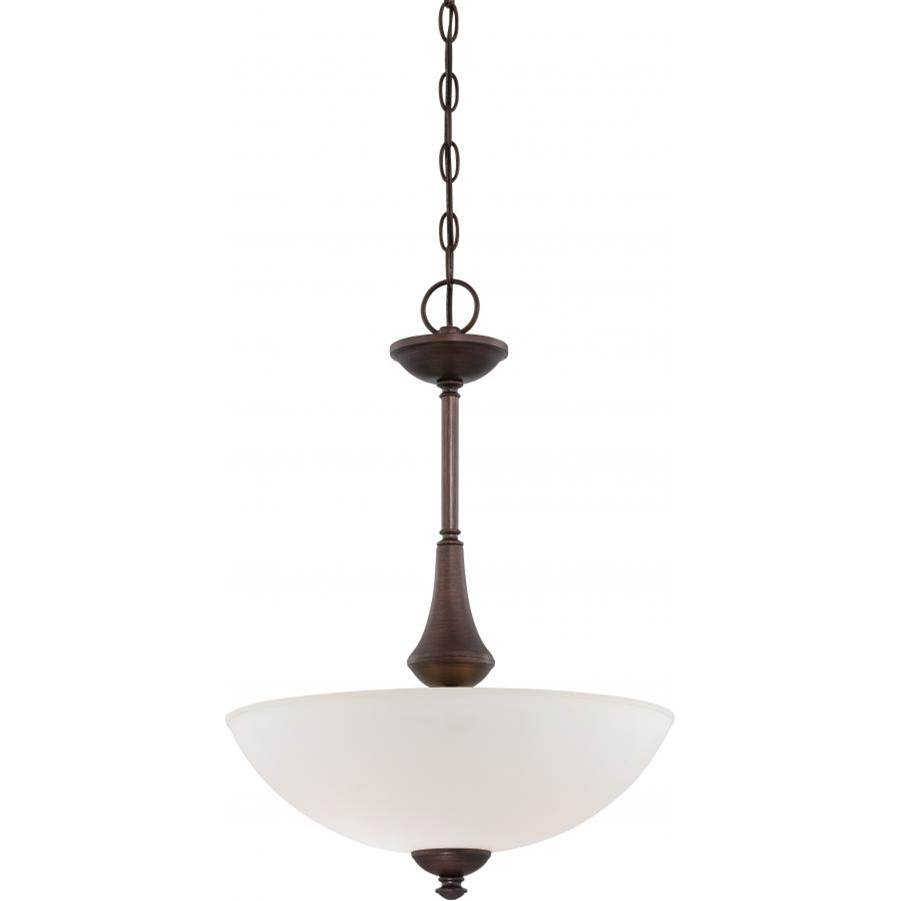 Nuvo Patton; 3 Light; Pendant with Frosted Glass