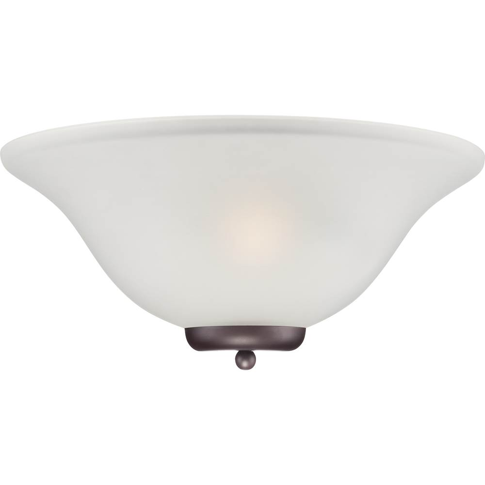 Nuvo Ballerina; 1 Light; Wall Sconce; Mahogany Bronze with Frosted Glass