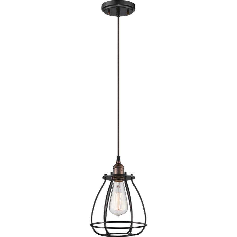 Nuvo Vintage; 1 Light; Caged Pendant; Vintage Lamp Included