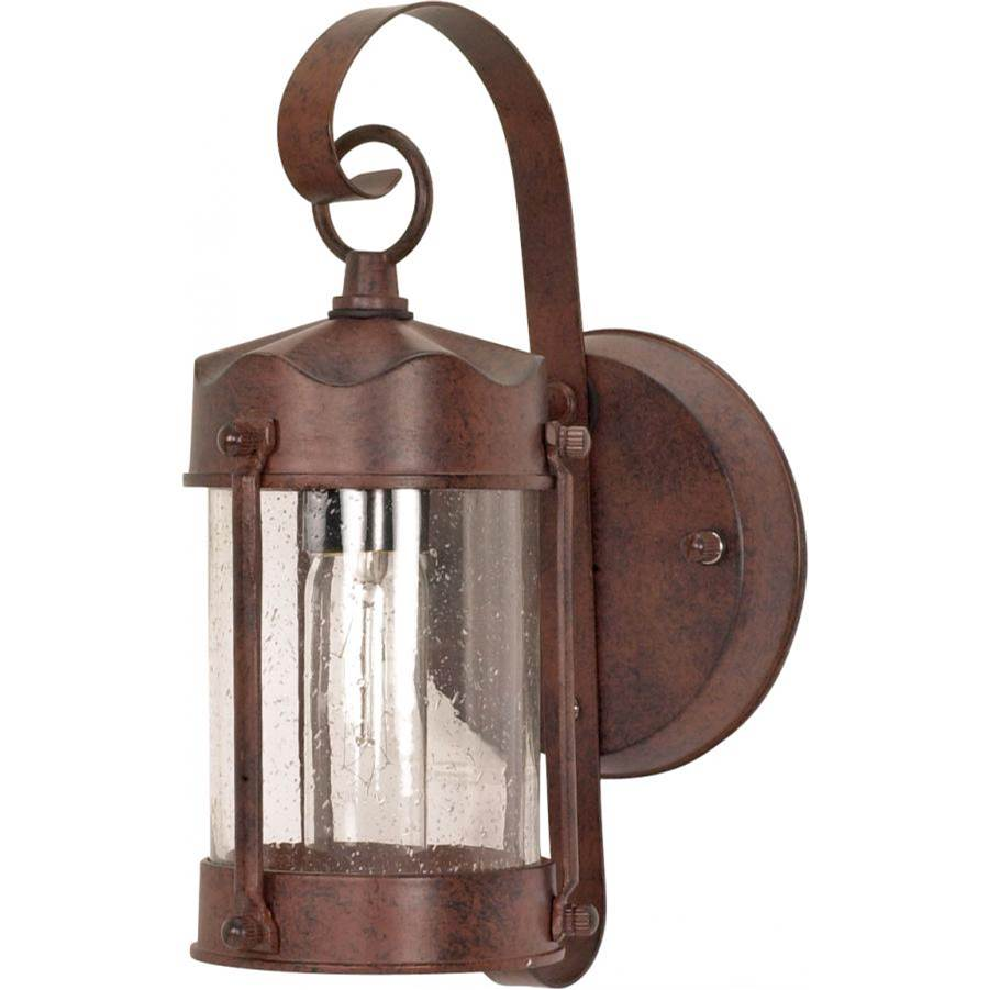 Nuvo 1 Light; 11 in.; Wall Lantern; Piper Lantern with Clear Seed Glass