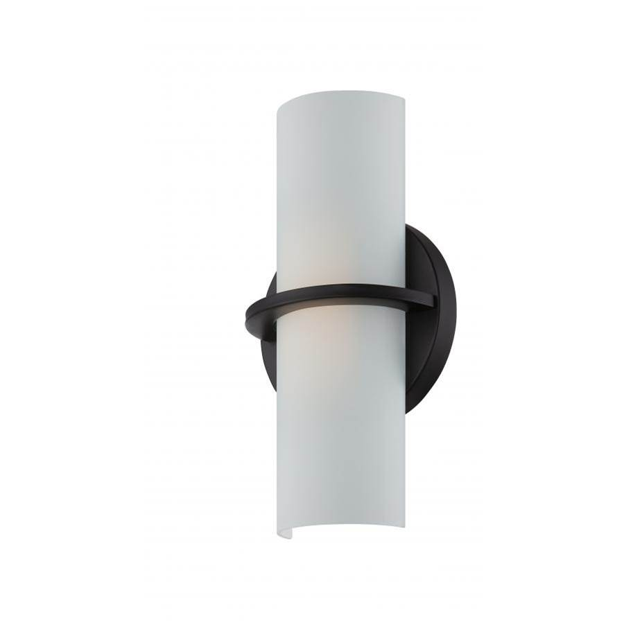 Nuvo Tucker; LED Wall Sconce; Etched Opal Glass; Aged Bronze Finish
