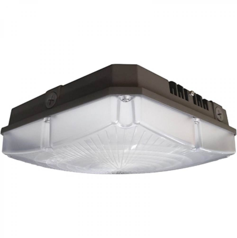 Nuvo LED Canopy Fixture; 40W; 4000K; 120-277V