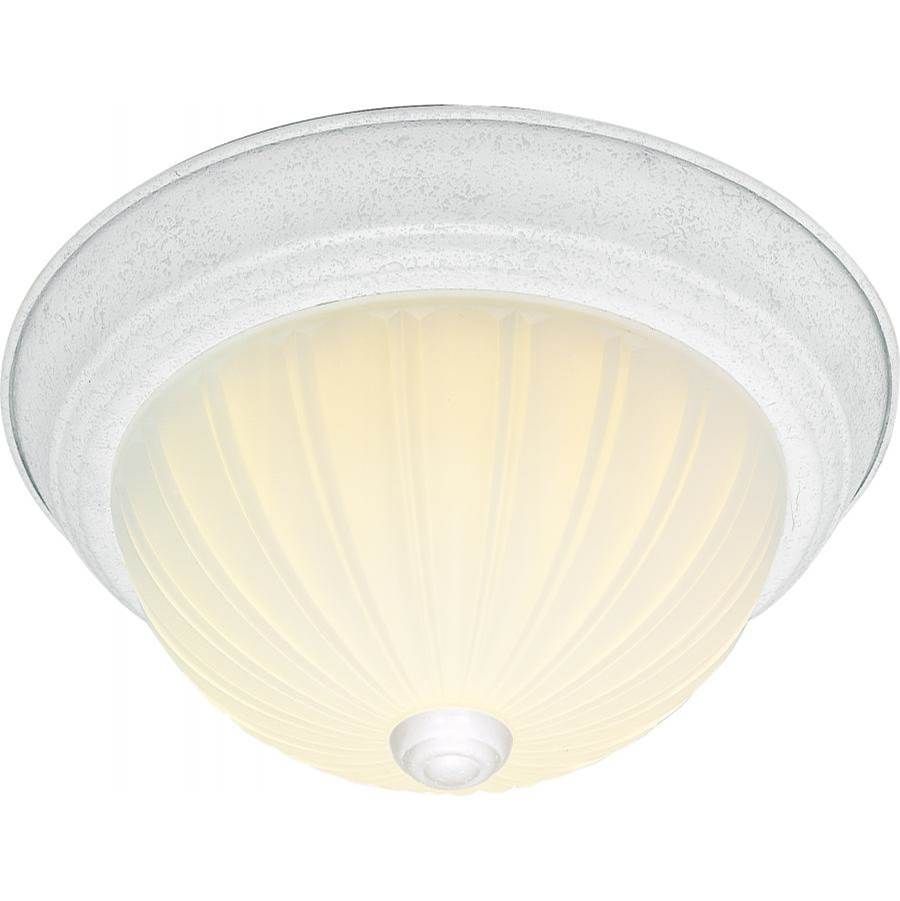 Nuvo 2 Light - 13'' - Flush Mount - Frosted Melon Glass