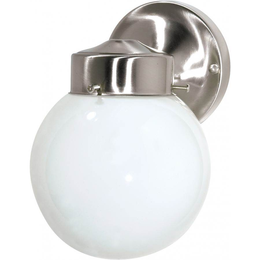 Nuvo 1 Light - 6'' - Porch; Wall - With White Globe