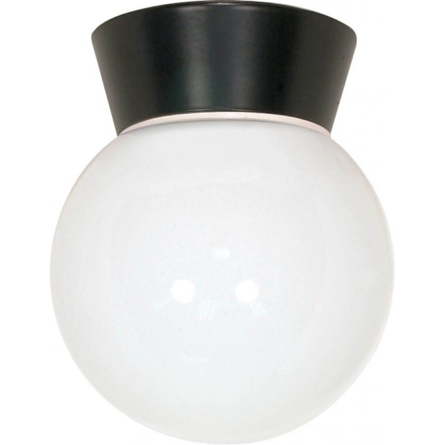 Nuvo 1 Light - 8'' - Utility; Ceiling Mount - With White Glass Globe