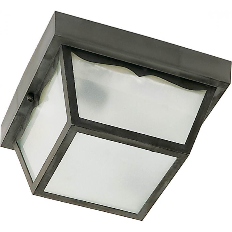 Nuvo 1 Light - 8'' - Carport Flush Mount - With Frosted Acrylic Panels