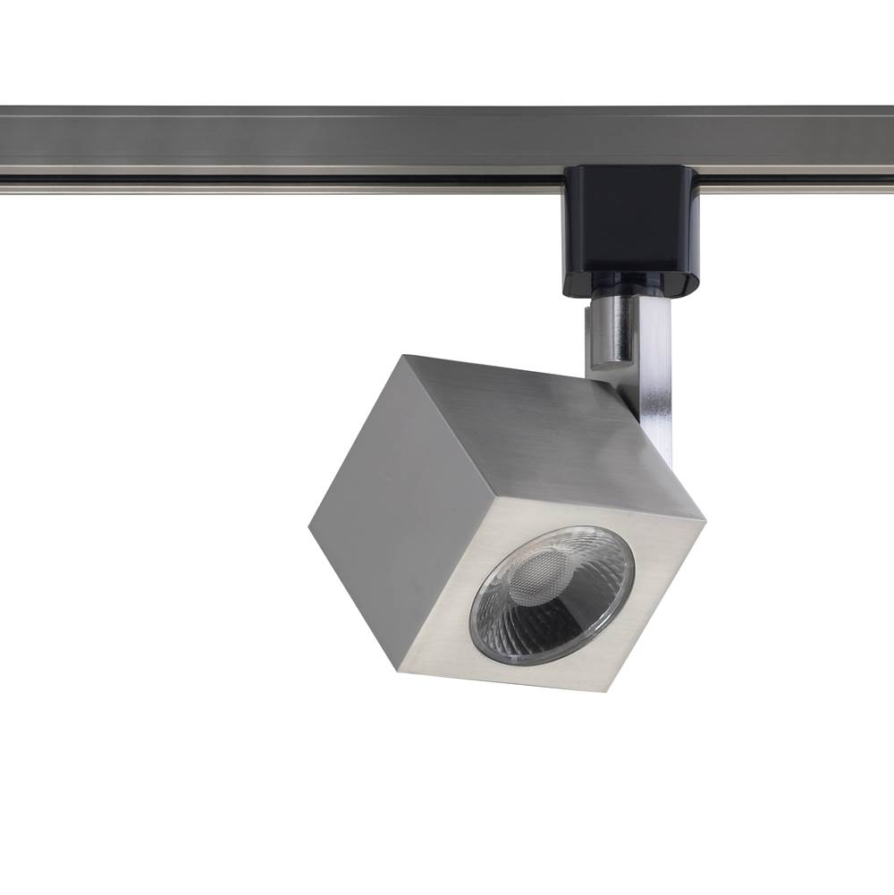 Nuvo 1 Light - LED - 12W Track Head - Square - Brushed Nickel - 36 Deg. Beam