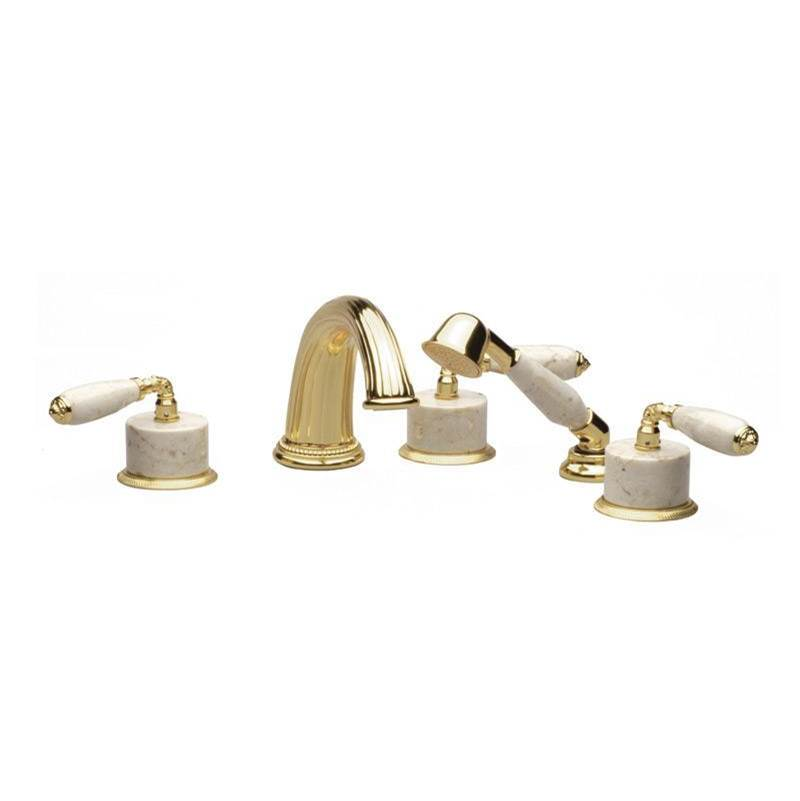 Phylrich VALENCIA Deck Tub Set with Hand Shower K2338DP1