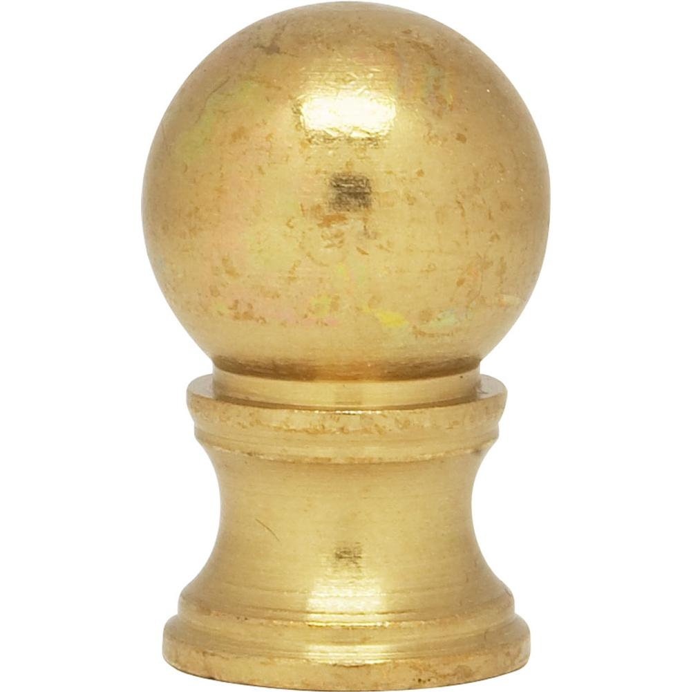 Satco Brass Ball Finial; 1-1/4'' Height; 3/4'' Diameter; 1/8 IP; Burnished And Lacquered