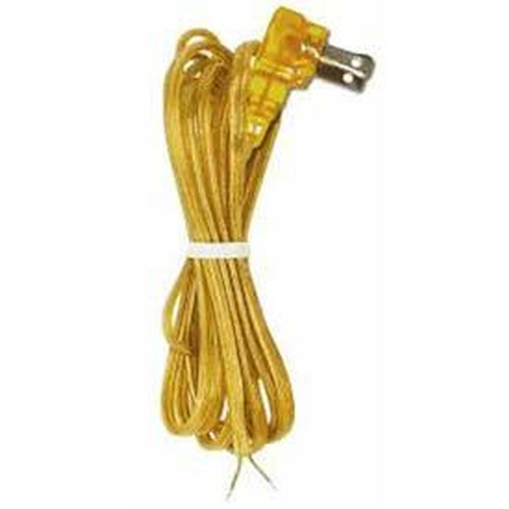 Satco Flat Plug Cord Set 18/2 SPT-2-105C Molded Plug - Tinned Tips - 3/4'' Strip with 2'' Slit 36'' Hank - 200 Ctn. 8 Ft.