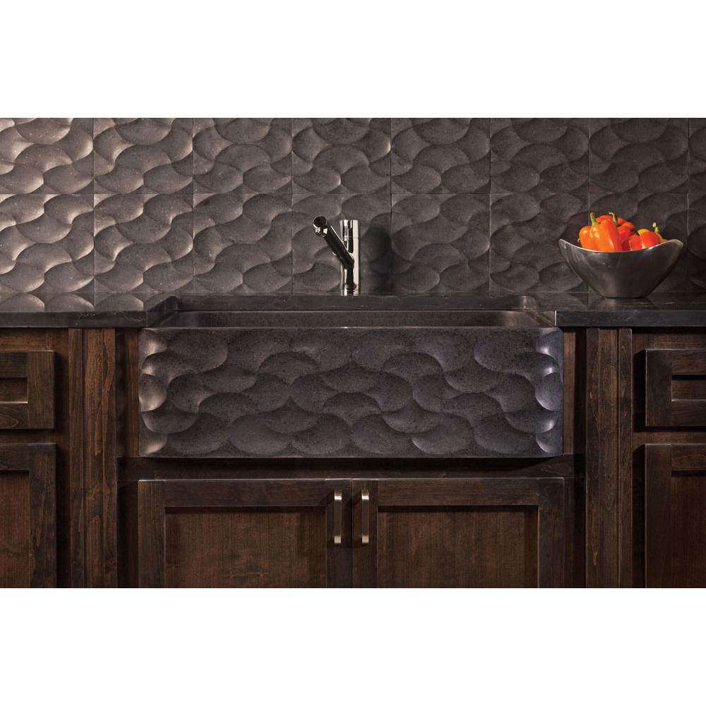 Stone Forest Wave Front Farmhouse Sink