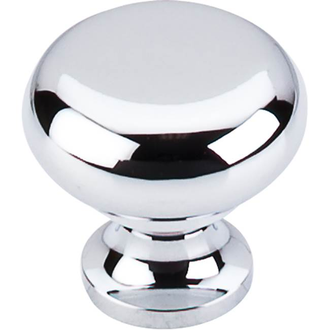 Top Knobs Flat Faced Knob 1 1/4 Inch Polished Chrome