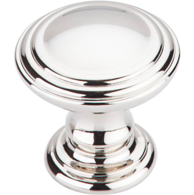 Top Knobs Reeded Knob 1 1/4 Inch Polished Nickel