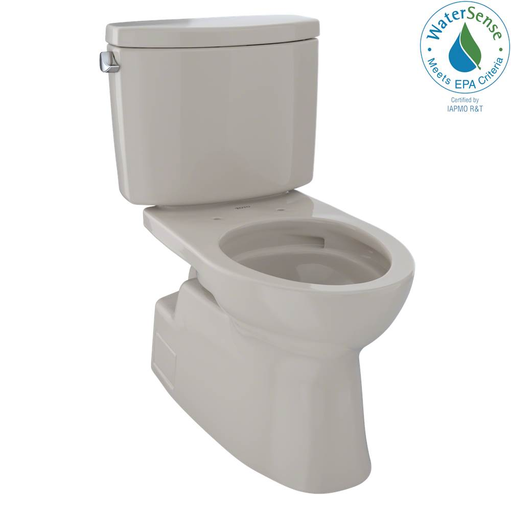 Toto Vespin® II Two-Piece Elongated 1.28 GPF Universal Height Skirted Design Toilet with CEFIONTECT, Bone