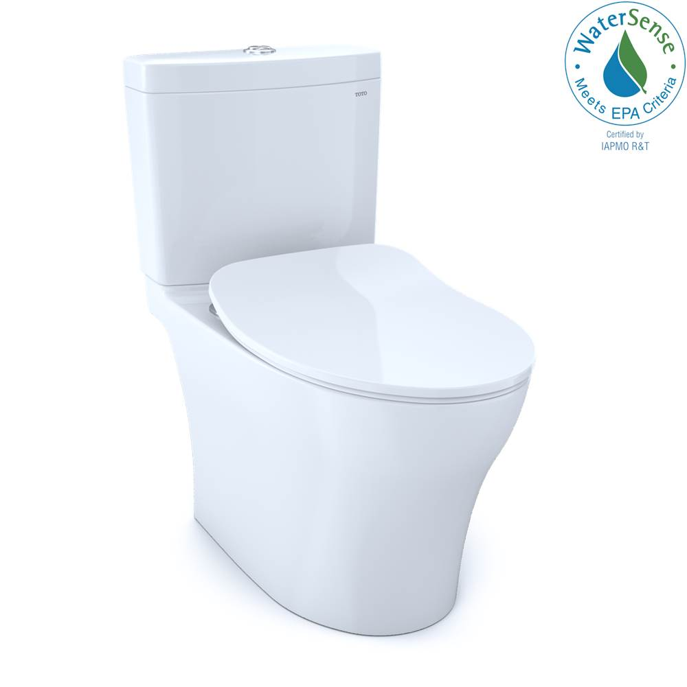 Toto Aquia® IV 1G® Two-Piece Elongated Dual Flush 1.0 and 0.8 GPF Toilet with CEFIONTECT® and SoftClose® Seat, WASHLET®+ Ready, Cotton White