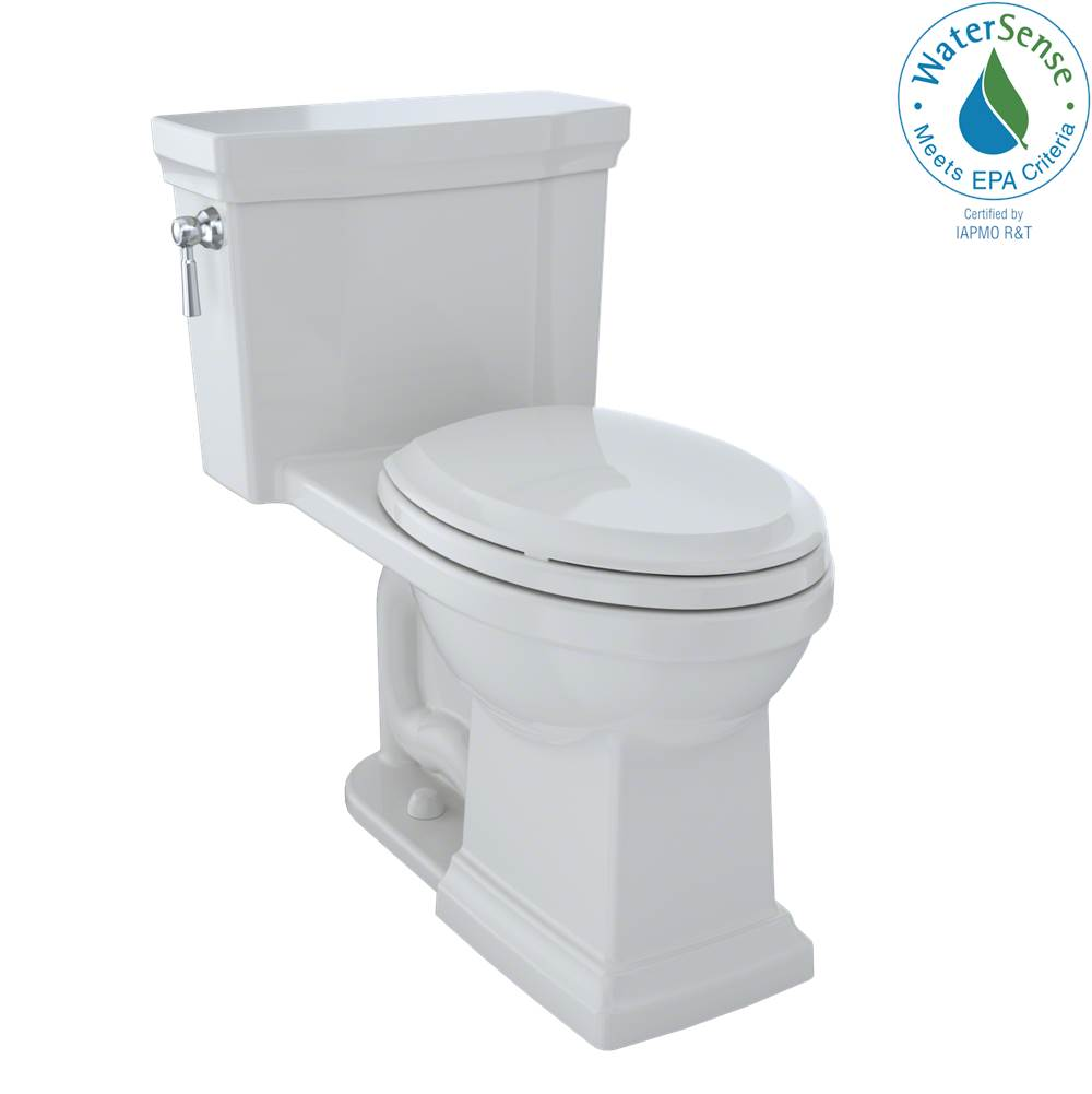 Toto Promenade® II One-Piece Elongated 1.28 GPF Universal Height Toilet with CEFIONTECT, Colonial White