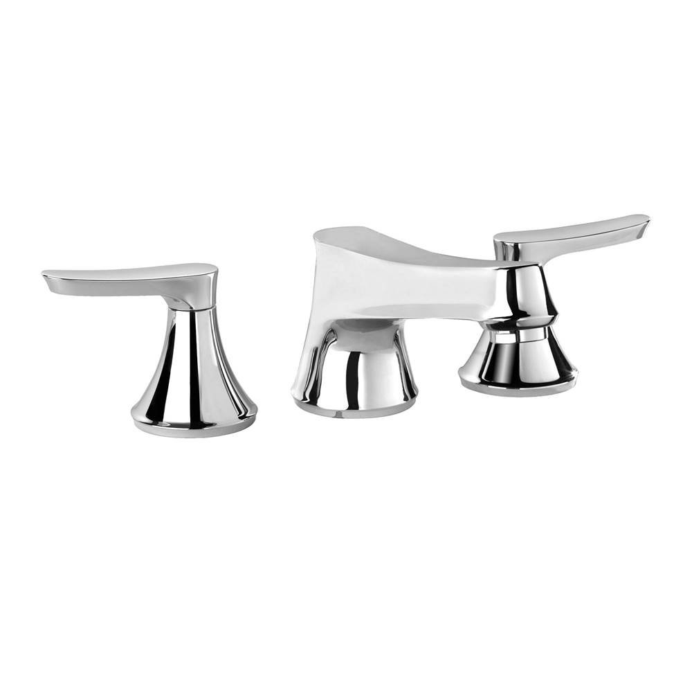 Toto Wyeth™ Two Handle Deck-Mount Roman Tub Filler Trim, Polished Chrome