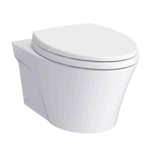 Toto AP Wall-Hung Elongated Toilet Bowl with Skirted Design and CEFIONTECT, Cotton White