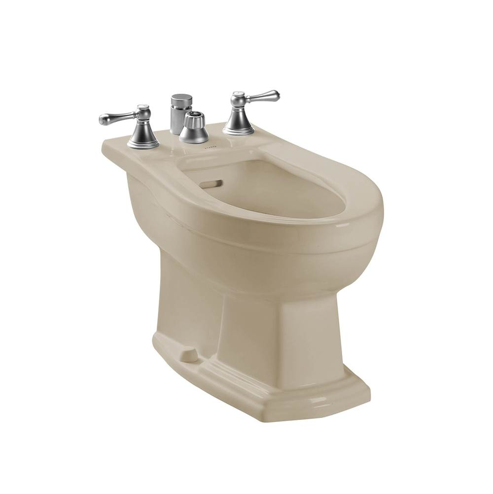Toto Clayton® Deck Mount Vertical Spray Flushing Rim Bidet, Bone