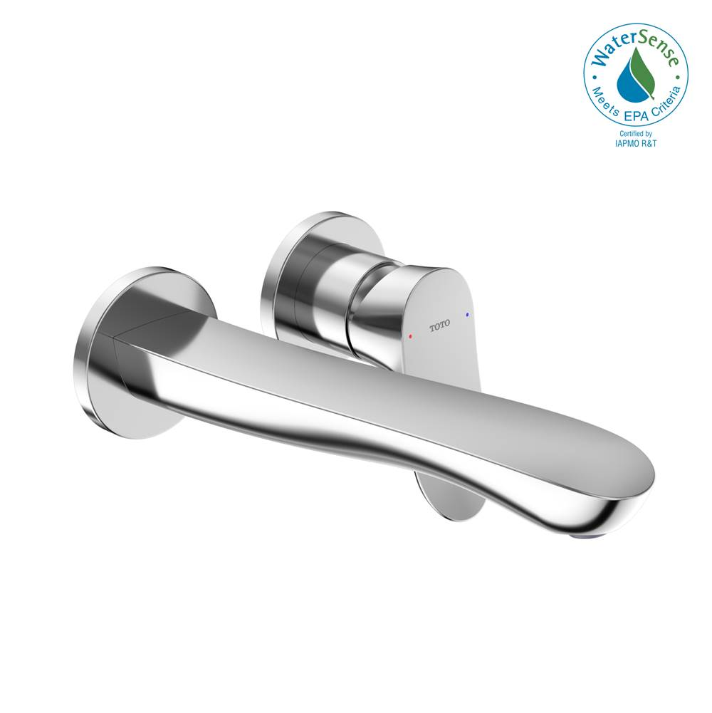 Toto GO 1.2 GPM Wall-Mount Single-Handle L Bathroom Faucet with COMFORT GLIDE™ Technology, Polished Chrome