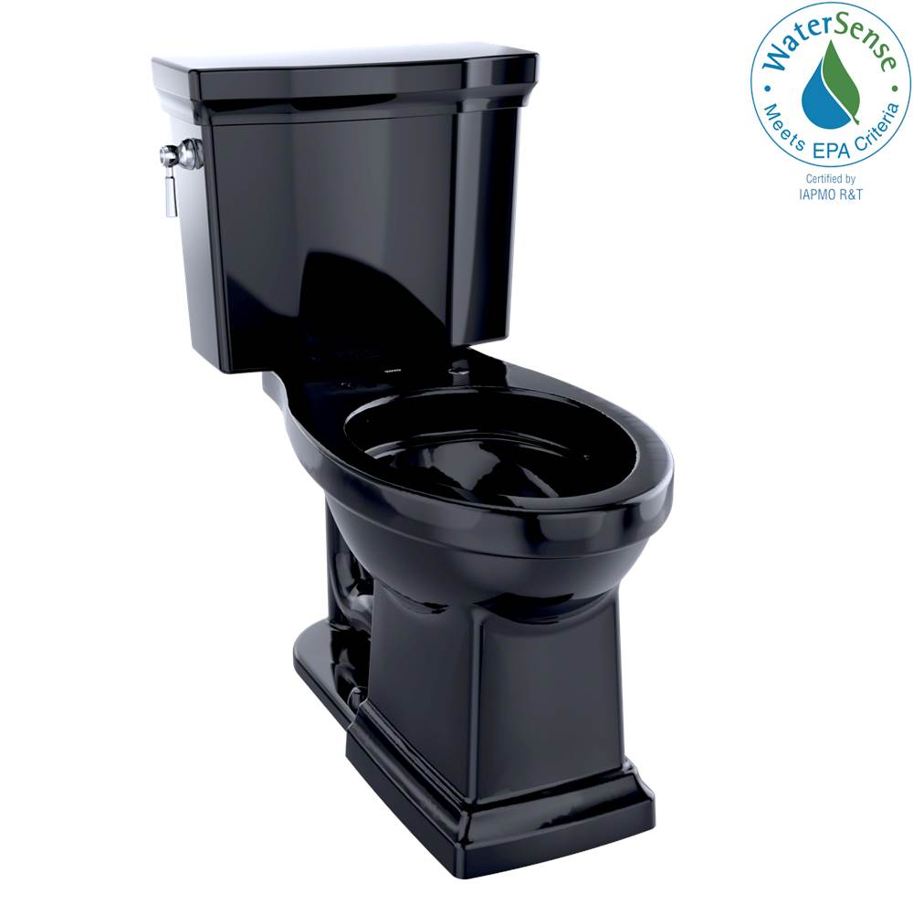 Toto Promenade® II Two-Piece Elongated 1.28 GPF Universal Height Toilet, Ebony