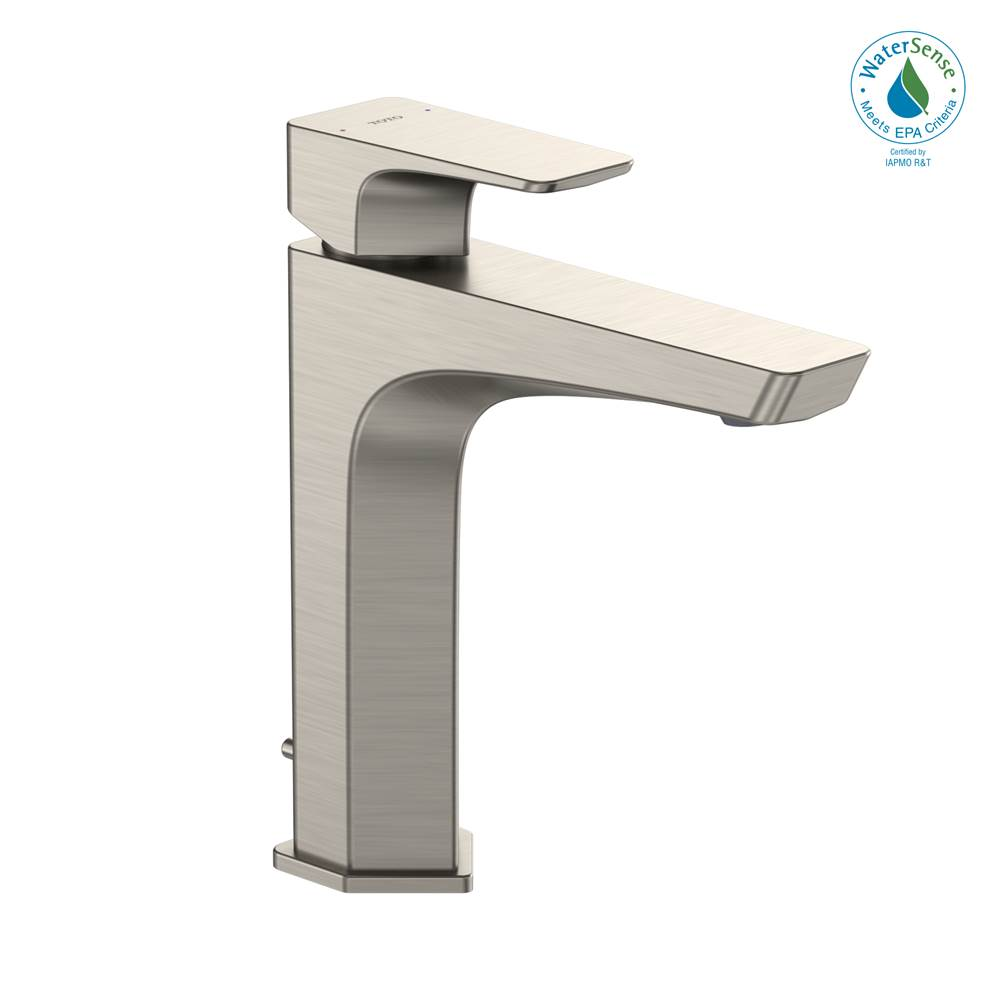 Toto GE 1.2 GPM Single Handle Semi-Vessel Bathroom Sink Faucet with COMFORT GLIDE Technology, Brushed Nickel