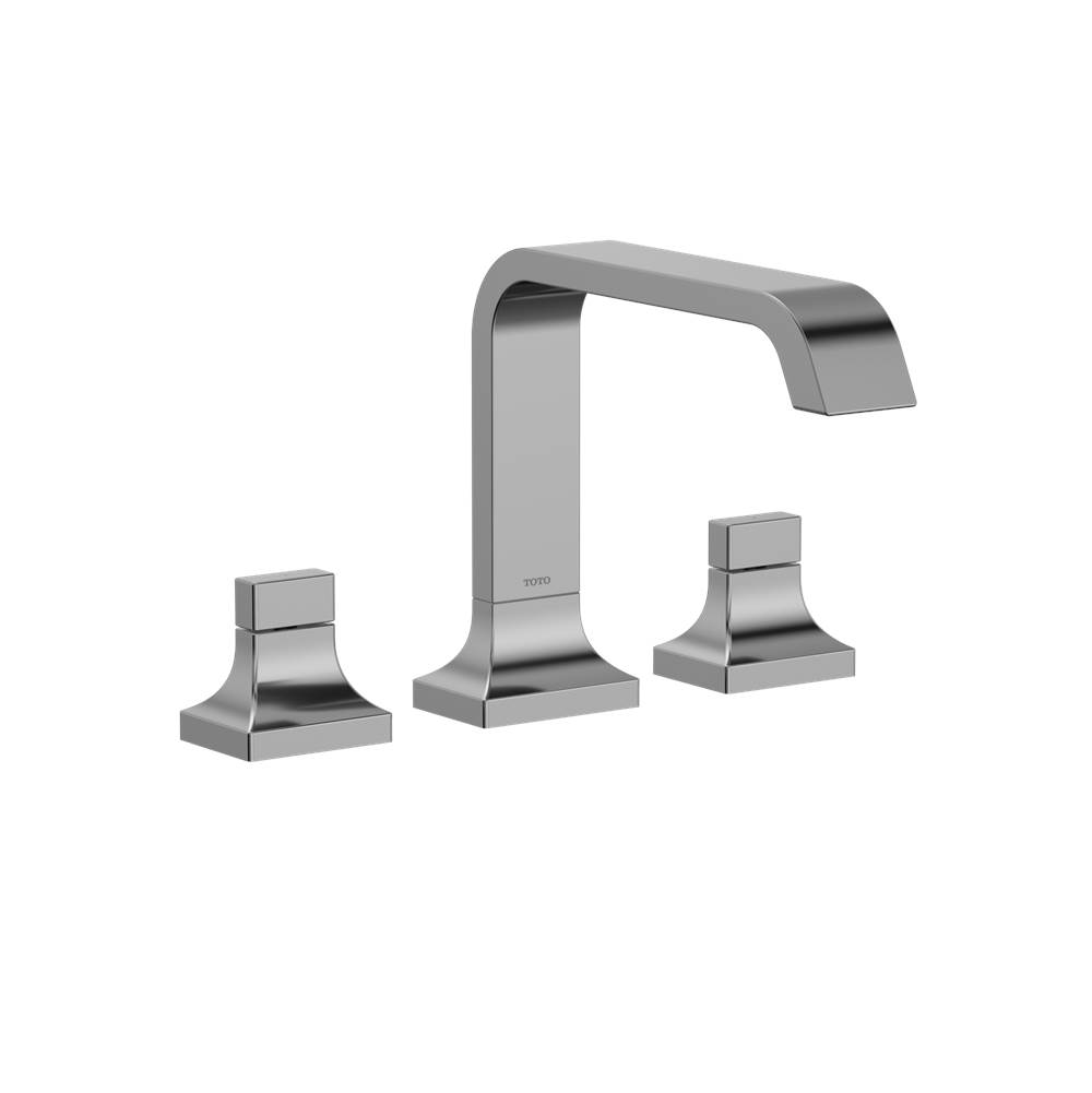Toto GC Two-Handle Deck-Mount Roman Tub Filler Trim, Polished Chrome Nickel