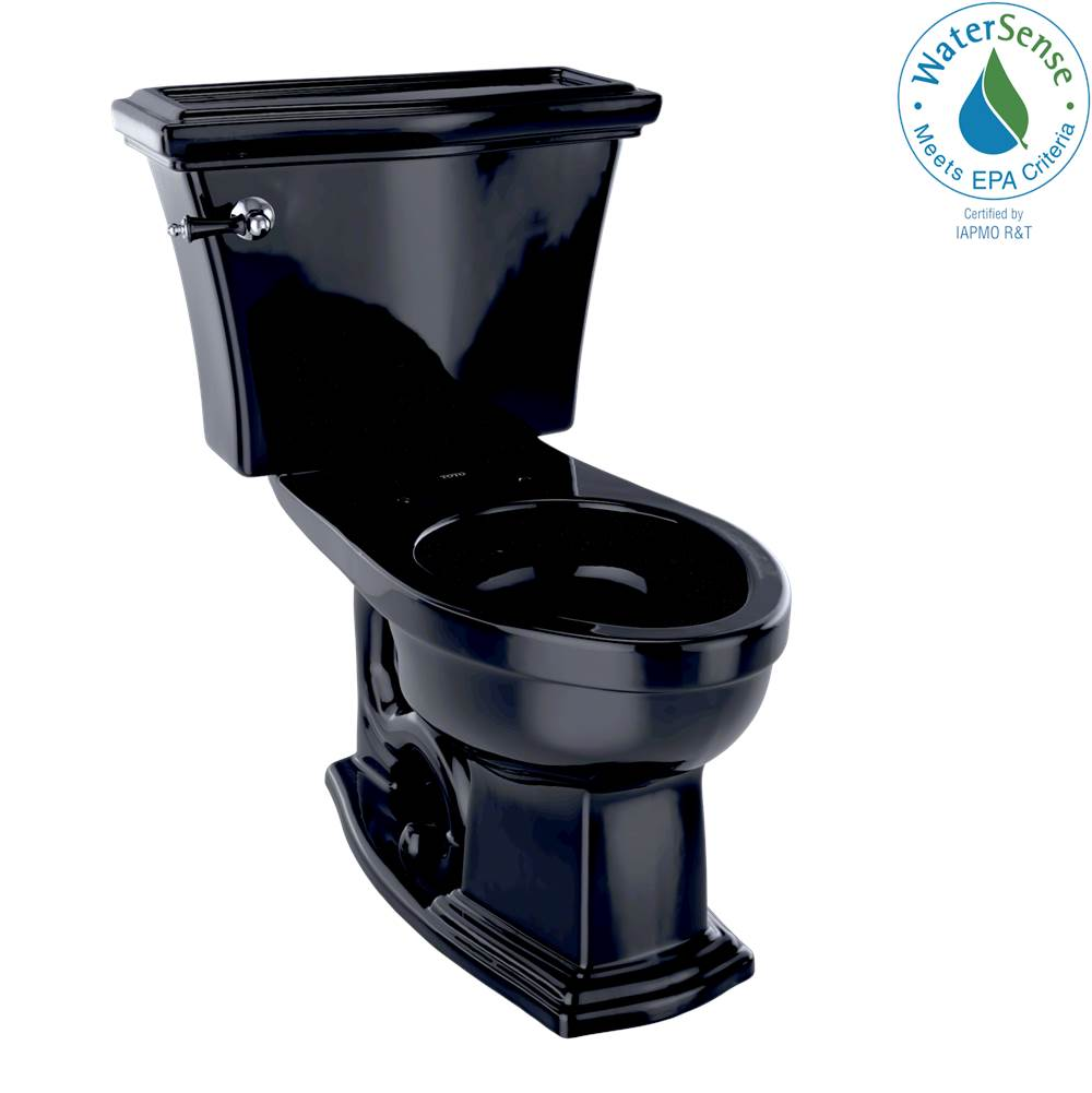 Toto Eco Clayton® Two-Piece Elongated 1.28 GPF Universal Height Toilet, Ebony