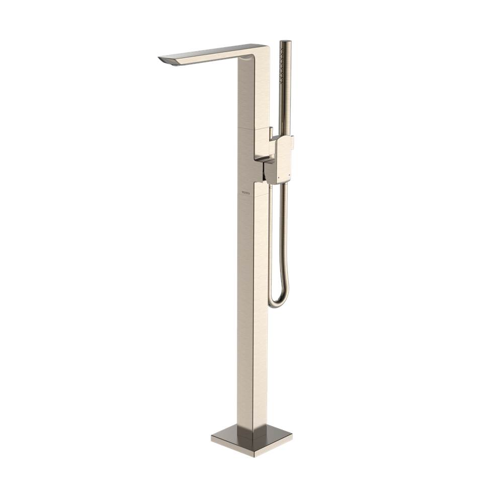 Toto GR Single-Handle Freestanding Tub Filler Faucet with Handshower, Brushed Nickel