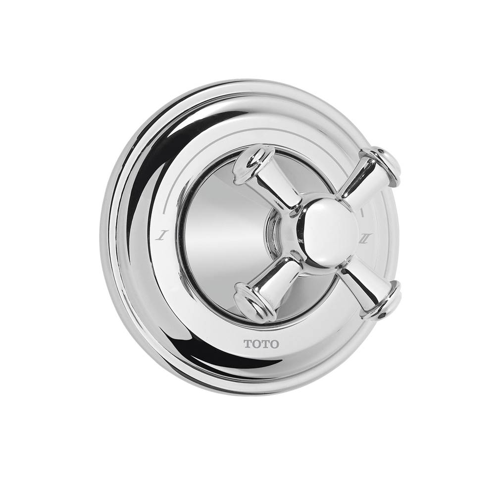 Toto Vivian™ Cross Handle Three-Way Diverter Trim with Off, Polished Chrome
