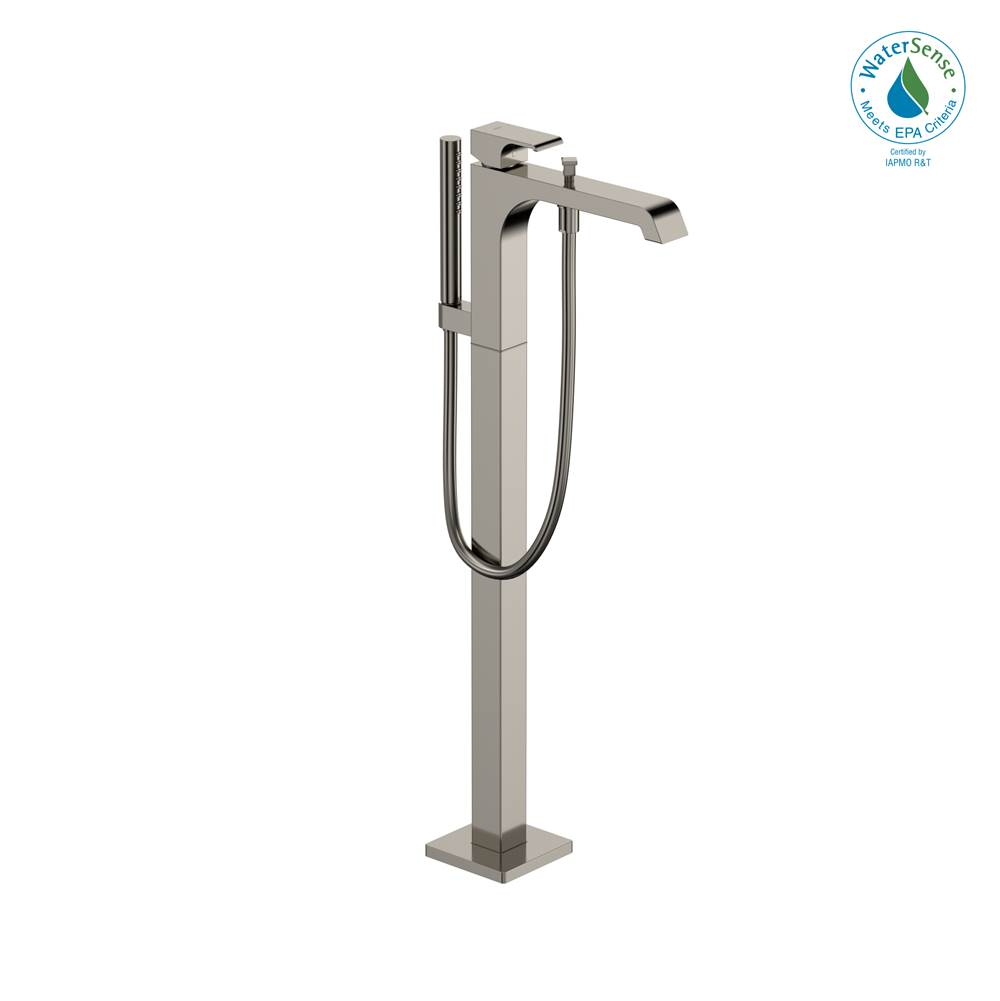 Toto GC Single-Handle Free Standing Tub Filler with Handshower, Polished Nickel