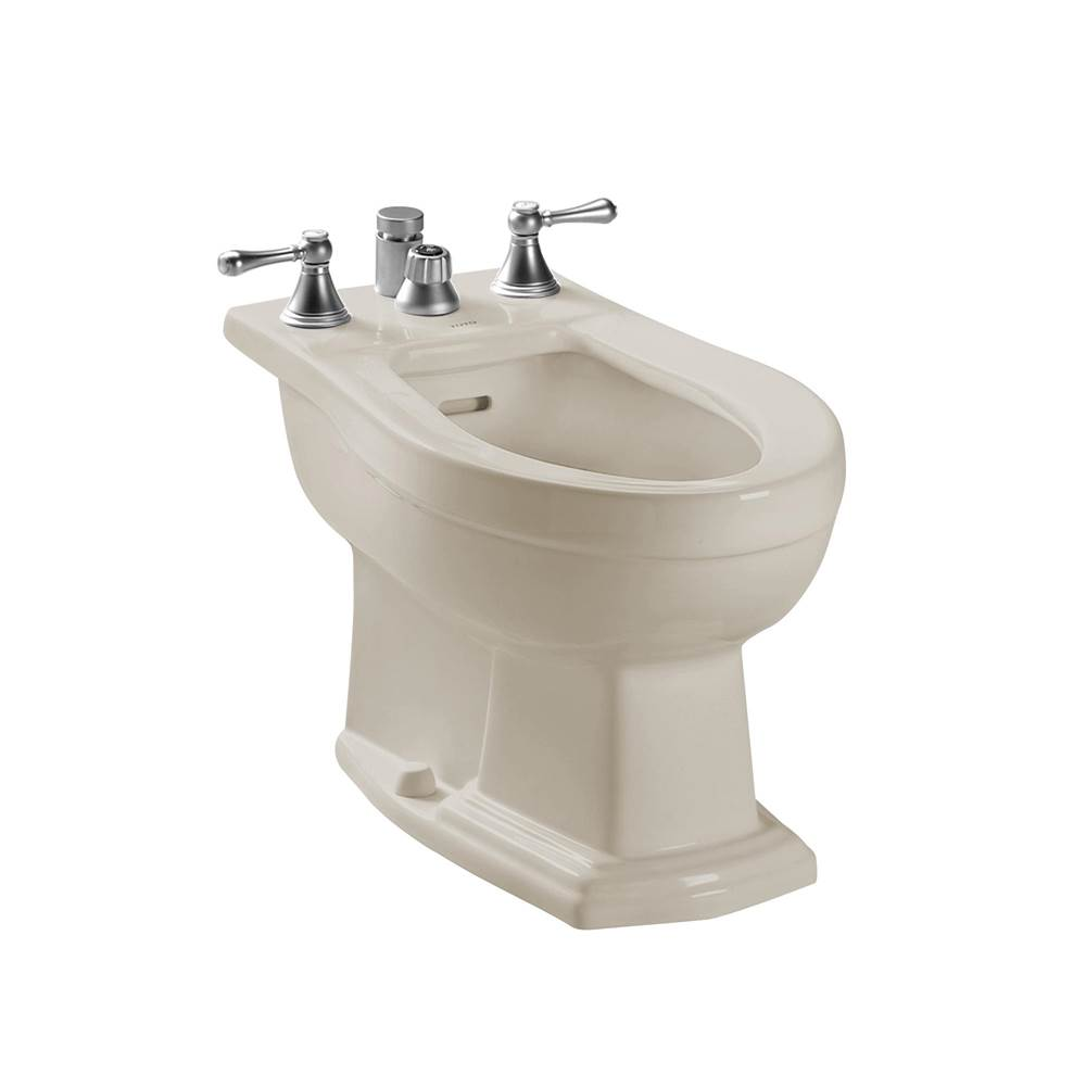 Toto Clayton® Deck Mount Vertical Spray Flushing Rim Bidet, Sedona Beige