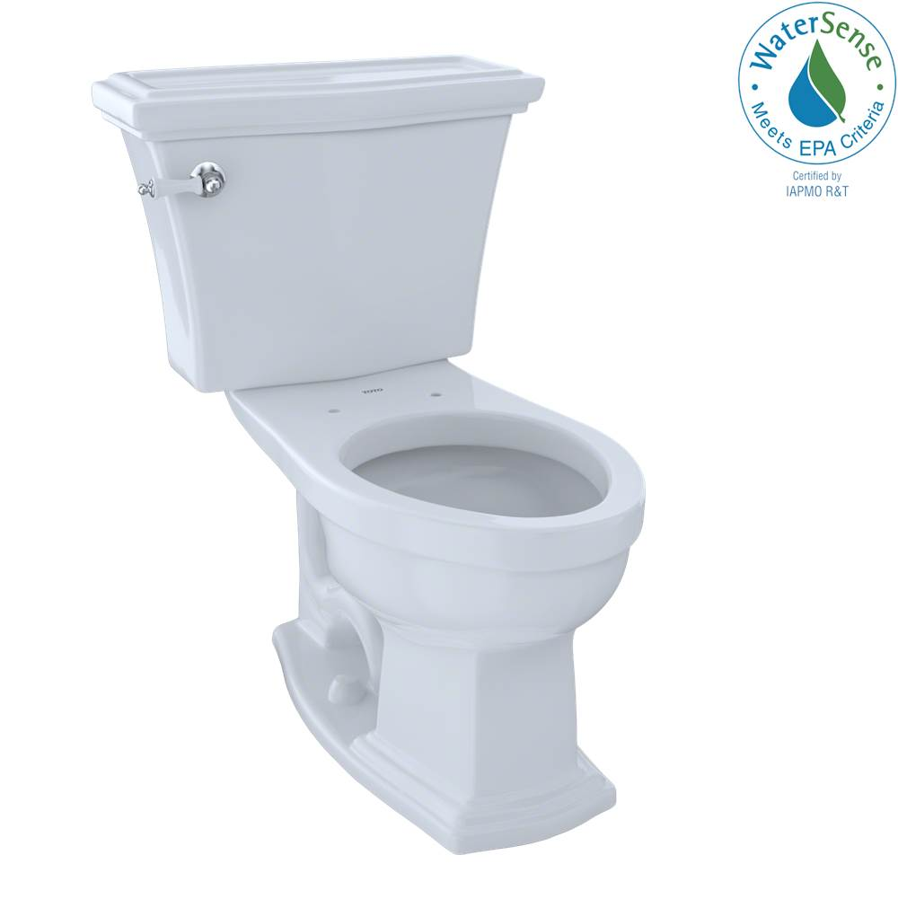 Toto Eco Clayton® Two-Piece Elongated 1.28 GPF Universal Height Toilet, Cotton White