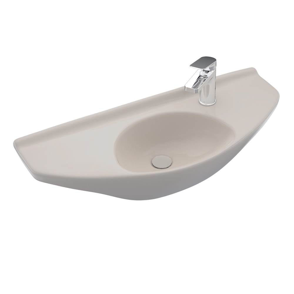 Toto Oval Wall-Mount Bathroom Sink with CEFIONTECT, Sedona Beige