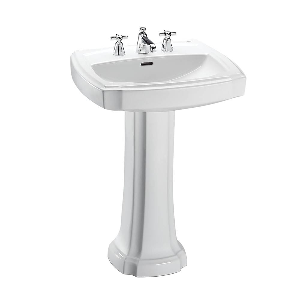 Toto Guinevere® 27-1/8'' x 19-7/8'' Rectangular Pedestal Bathroom Sink for 8 Inch Center Faucets, Cotton White