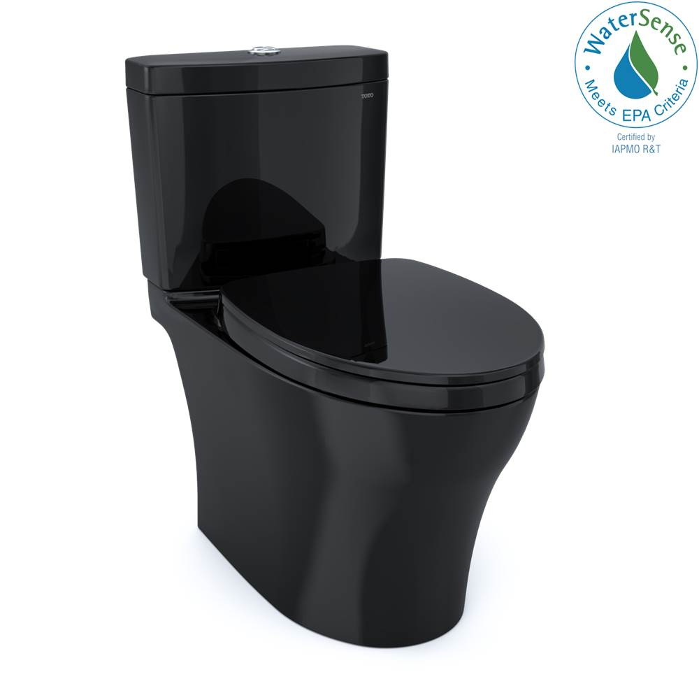 Toto Aquia IV WASHLET+ Two-Piece Elongated Dual Flush 1.28 and 0.8 GPF Toilet, Ebony