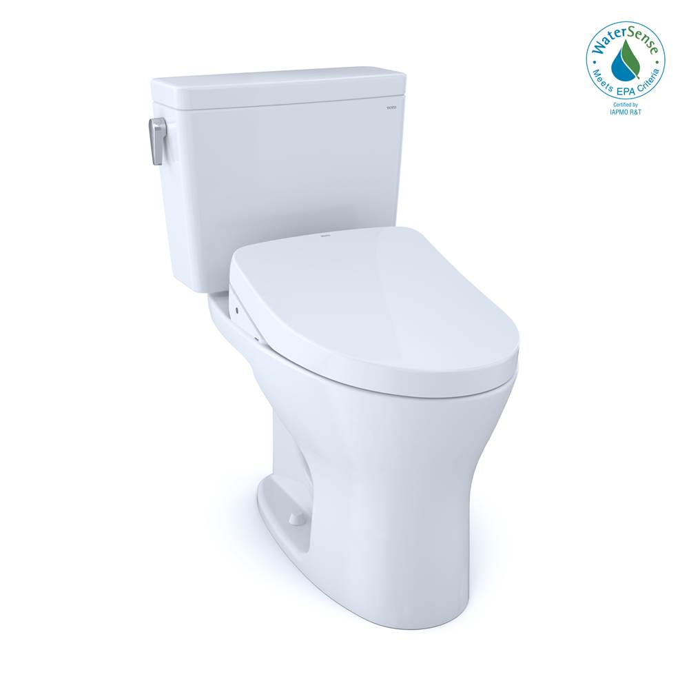 Toto Drake® 1G® WASHLET®+ Two-Piece EL Dual Flush 1.0, 0.8 GPF Unv. Height with 10'' Rough-In DYNAMAX TORNADO FLUSH® Toilet with S500e Bidet Sea