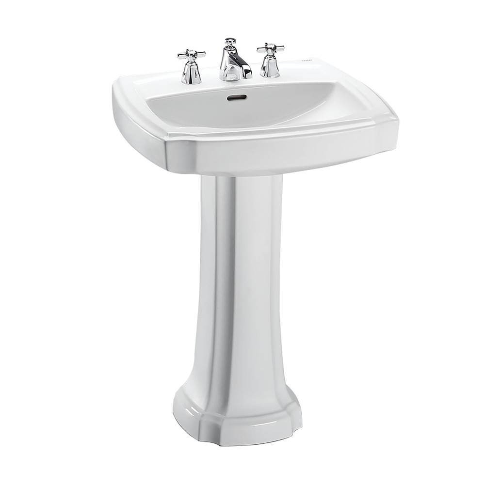 Toto Guinevere® 24-3/8'' x 19-7/8'' Rectangular Pedestal Bathroom Sink for 8 Inch Center Faucets, Cotton White