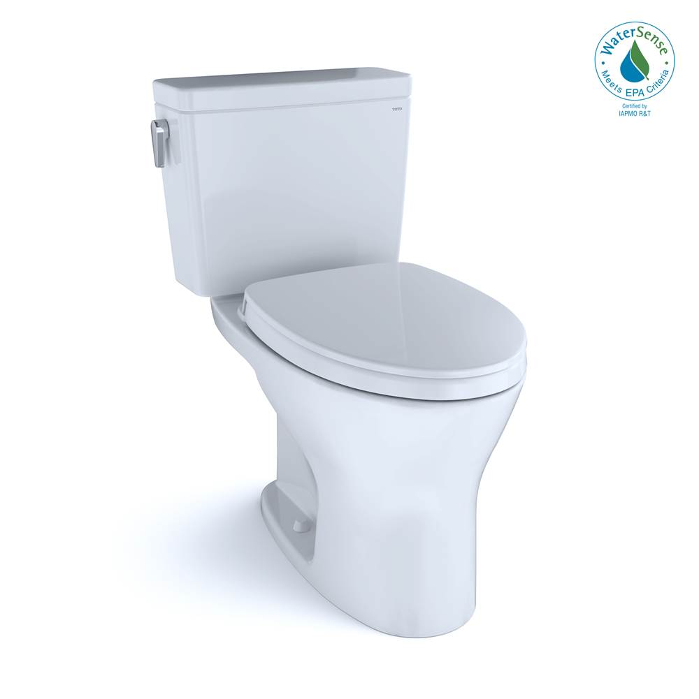 Toto Drake® 1G® Two-Piece EL Dual Flush 1.0,0.8 GPF DYNAMAX TORNADO FLUSH® Toilet with CEFIONTECT®,SoftClose Seat, WASHLET+ Ready, Cotton White