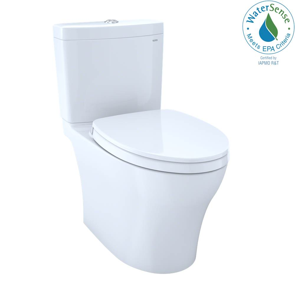 Toto Aquia IV 1G WASHLET+ Two-Piece Elongated Dual Flush 1.0 and 0.8 GPF Toilet with CEFIONTECT, Cotton White