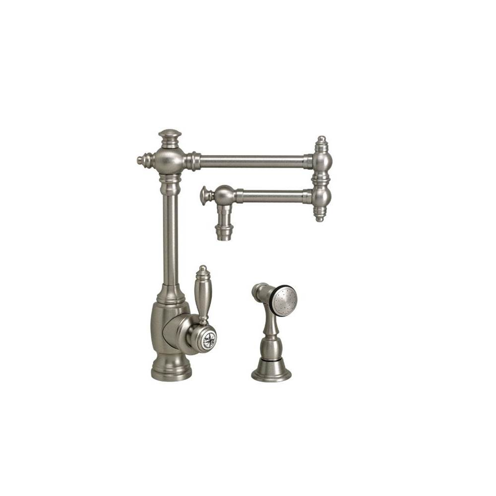 Waterstone Towson Kitchen Faucet - 12'' Articulated Spout W/ Side Spray