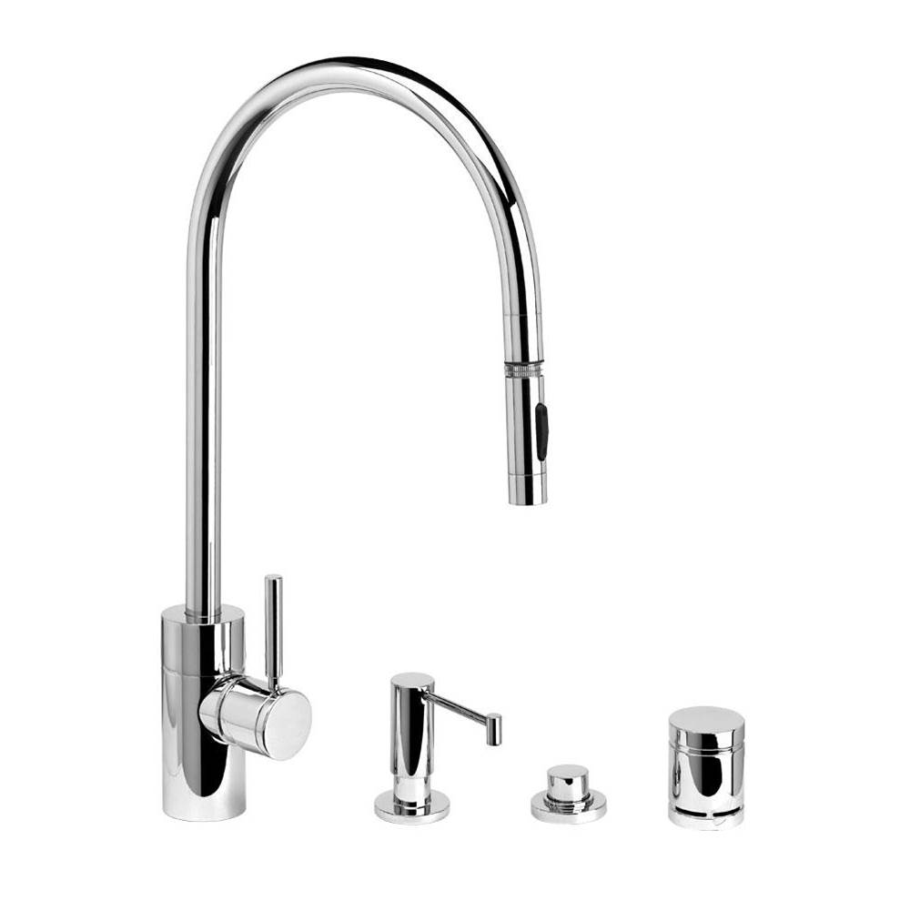 Waterstone Contemporary Extended Reach Plp Pulldown Faucet - Toggle Sprayer - 4Pc. Suite